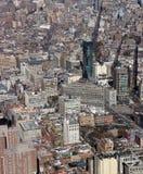曼哈顿纽约阿里埃勒视图  免版税库存图片