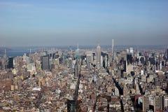 曼哈顿纽约阿里埃勒视图  库存照片
