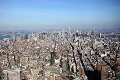 曼哈顿纽约阿里埃勒视图  免版税库存照片