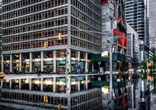 曼哈顿街道场面 免版税库存照片