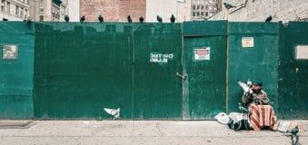 曼哈顿街道场面 库存照片