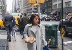 曼哈顿街道场面 图库摄影