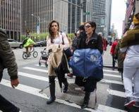 曼哈顿街道场面 库存图片