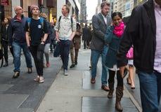 曼哈顿街道场面 免版税库存图片