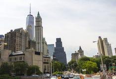 曼哈顿街道 库存图片