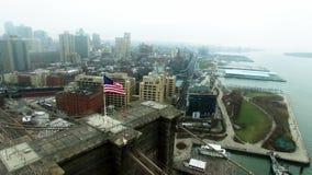 曼哈顿财政区空中射击  股票录像