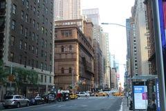 曼哈顿邻里美丽的景色  免版税库存照片