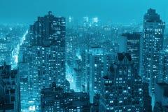 曼哈顿顶视图 库存照片