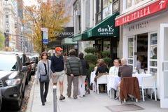 曼哈顿餐馆 库存图片