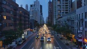 曼哈顿鸟瞰图从罗斯福岛电车的 股票视频