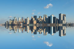 曼哈顿,纽约全景  免版税库存照片