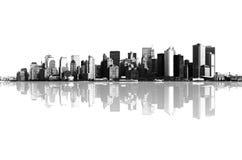 曼哈顿,纽约全景  库存图片