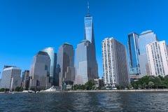 曼哈顿,纽约摩天大楼  免版税库存照片