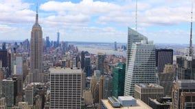 曼哈顿,纽约4K UltraHD空中timelapse天线  股票视频