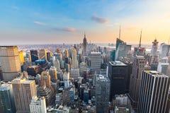 曼哈顿-从摇滚的洛克菲勒中心-纽约的上面的看法 免版税图库摄影
