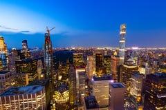 曼哈顿-从摇滚的洛克菲勒中心-纽约的上面的看法 库存照片