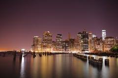曼哈顿 城市纽约 美国状态团结了 免版税图库摄影
