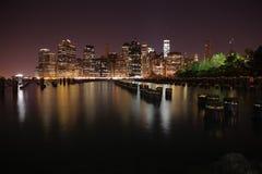 曼哈顿 城市纽约 美国状态团结了 库存照片