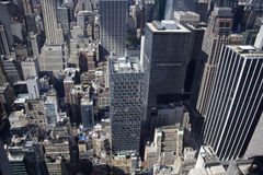 曼哈顿-纽约-岩石的Vue depuis le top 免版税库存图片