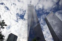 曼哈顿-纽约-这一个世界贸易中心镜子 免版税库存照片