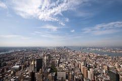 曼哈顿Arerial视图  库存照片