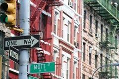曼哈顿mott街道 免版税库存图片