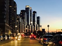 曼哈顿Nightview  图库摄影