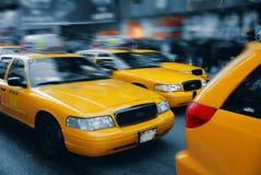 曼哈顿ny方形出租汽车时间 库存照片
