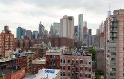 曼哈顿Vew从布鲁克林大桥的 库存图片