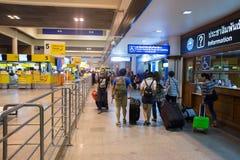 廊曼国际机场内部看法  免版税图库摄影