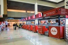 廊曼国际机场内部看法  图库摄影