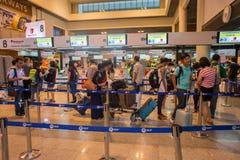 廊曼国际机场内部看法  免版税库存图片