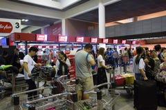 廊曼国际机场内部看法  免版税库存照片