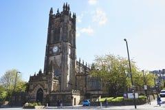 曼彻斯特,英国- 2017年5月4日:曼彻斯特大教堂外部  免版税图库摄影