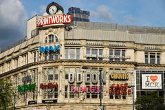 曼彻斯特Printworks façade 库存图片