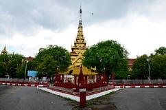 曼德勒宫殿在曼德勒,缅甸 库存图片