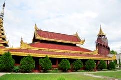 曼德勒宫殿在曼德勒,缅甸 图库摄影