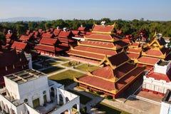 曼德勒宫殿在缅甸的(Burmar)曼德勒 图库摄影
