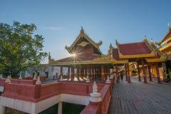 曼德勒宫殿曼德勒,缅甸 免版税库存照片