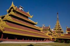 曼德勒宫殿,缅甸的(Burmar)曼德勒 免版税库存照片
