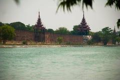 曼德勒王宫缅甸的 免版税库存图片