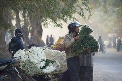 曼德勒花市场 库存图片