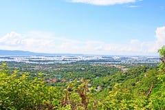 曼德勒Irrawaddy河风景,缅甸 免版税库存照片