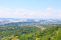 曼德勒Irrawaddy河风景,缅甸 免版税图库摄影