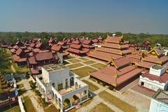 曼德勒Palace.Myanmar 免版税库存图片