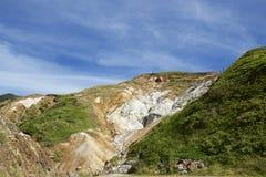 曼扎温泉硫磺喷口  库存照片