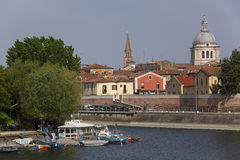 曼托瓦港口区域,意大利 库存图片