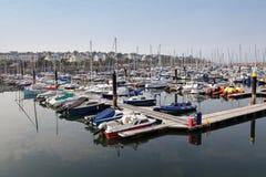 曼格小游艇船坞,北爱尔兰 库存照片