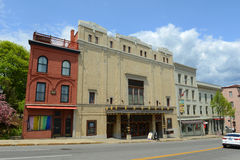 曼格歌剧院在街市曼格,缅因 免版税库存图片