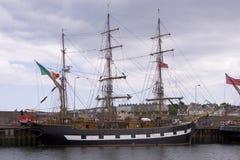 曼格co下来怀有高爱尔兰北部的船 图库摄影
